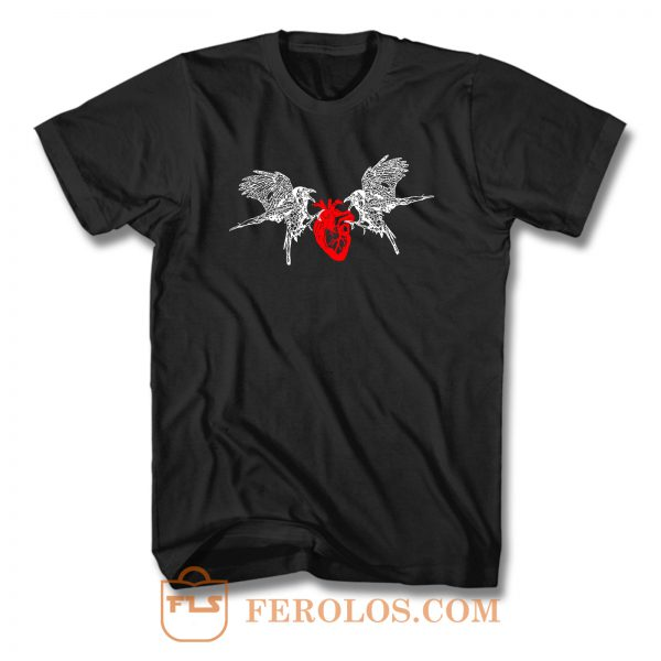 2 Ravens And A Heart T Shirt