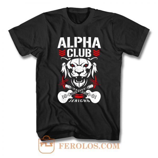 Alpha Club Chris Jericho Aew Wrestling T Shirt