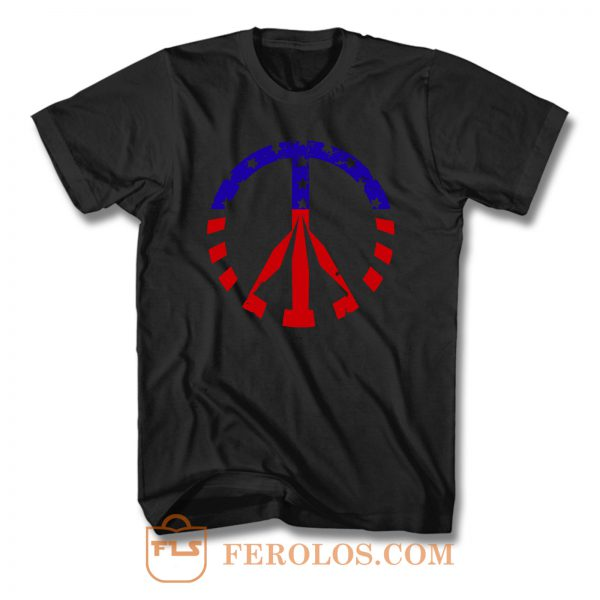 American Flag Peace Sign T Shirt