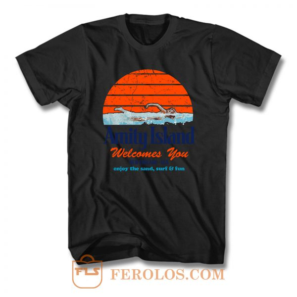 Amity Island Jaws Movie T Shirt