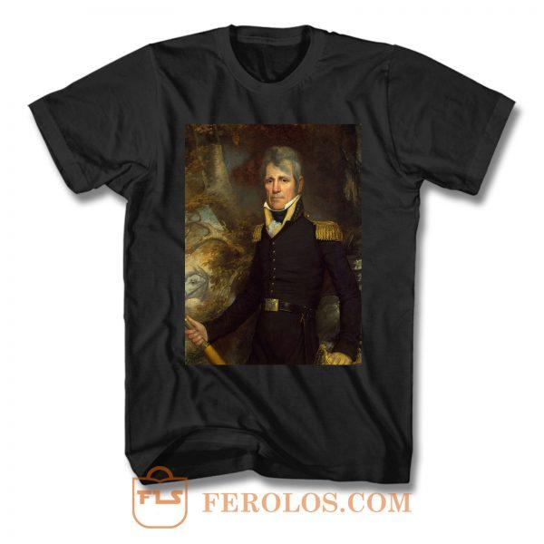 Andrew Jackson Presidential Portrait T Shirt