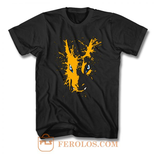 Charizard Pokemon Spatter T Shirt