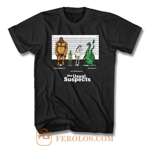 Cryptozoology The Usual Suspects T Shirt