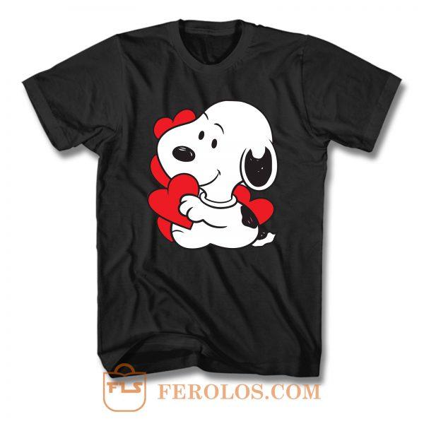 Cute Dog In Love T Shirt