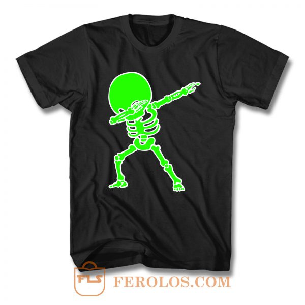 Dabbing Big Head Skeleton T Shirt