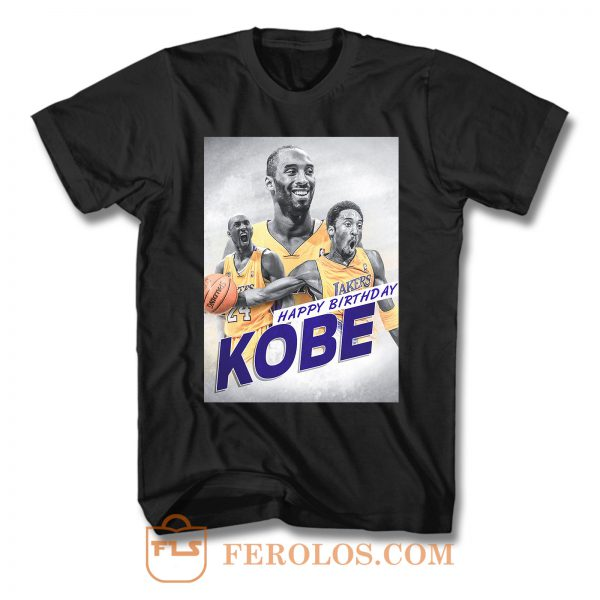Happy 40th Birthday To The Mamba Kobe Bryant T Shirt