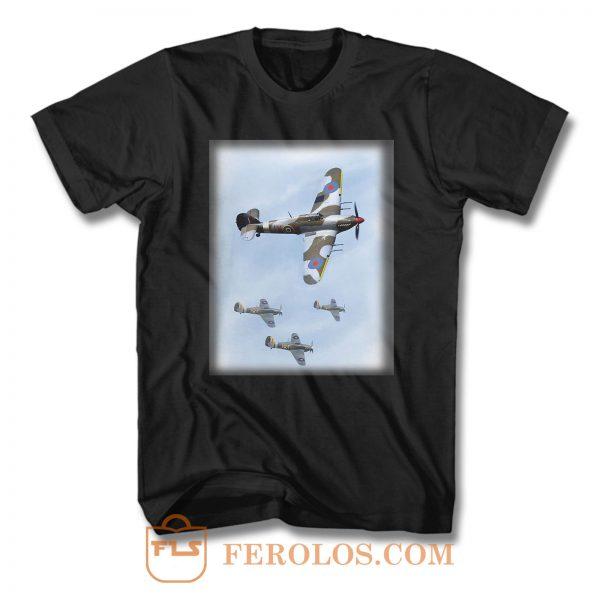 Hawker Hurricane British Fighter Aircraft T Shirt