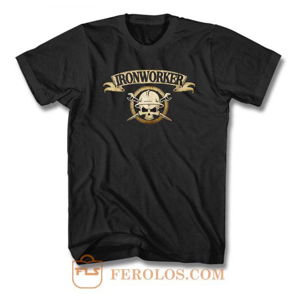 Ironworker Skull T Shirt