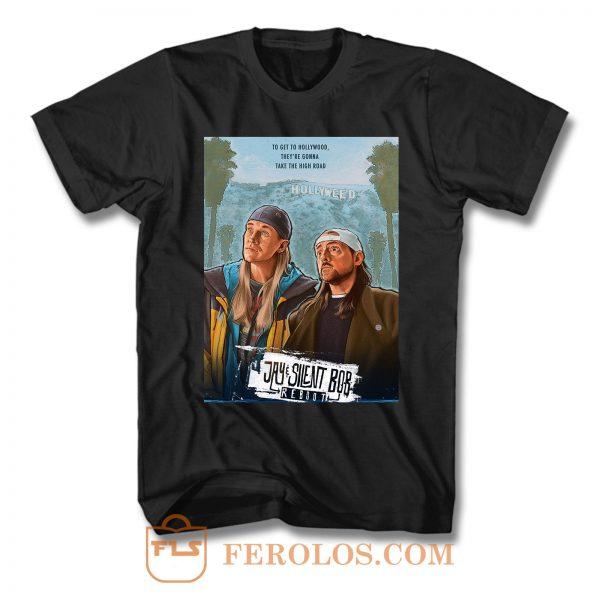 Jay And Silent Bob Reboot Hollyweed T Shirt