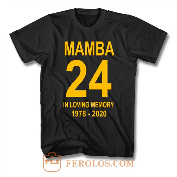 Kobe Bryant Los Angeles Lakers 24 T Shirt