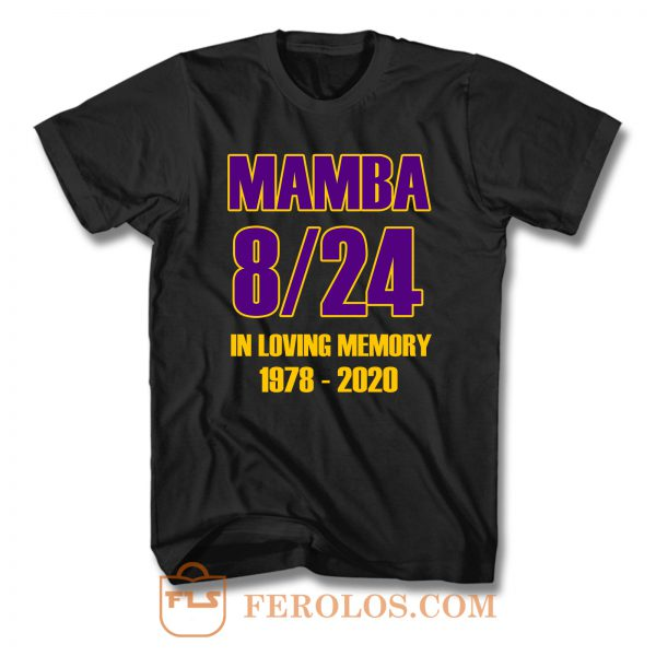 Kobe Bryant Los Angeles Lakers 8 And 24 Goat T Shirt