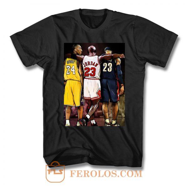 Kobe Bryant Michael Jordan Lebron James Nba Basketball T Shirt
