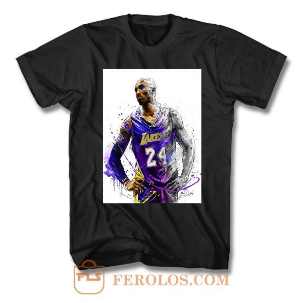 Kobe Bryant Painting Art T Shirt