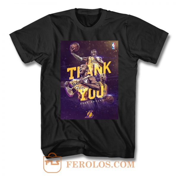 Kobe Bryant Thank You T Shirt