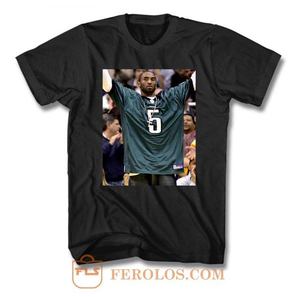 Kobe Bryant Wearing Philadelphia Eagles Jersey T Shirt