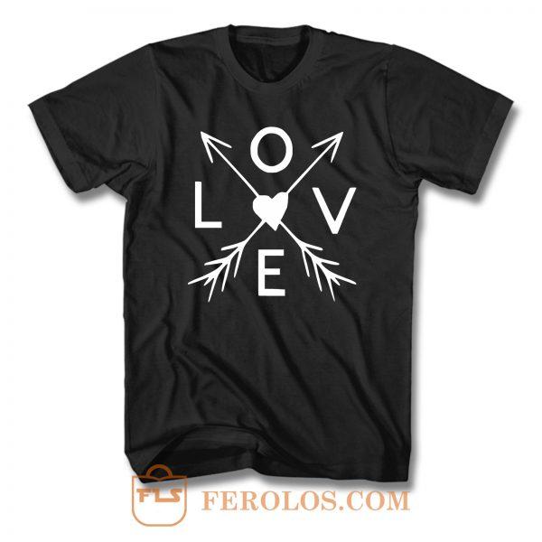 Love Arrow Valentines Day T Shirt