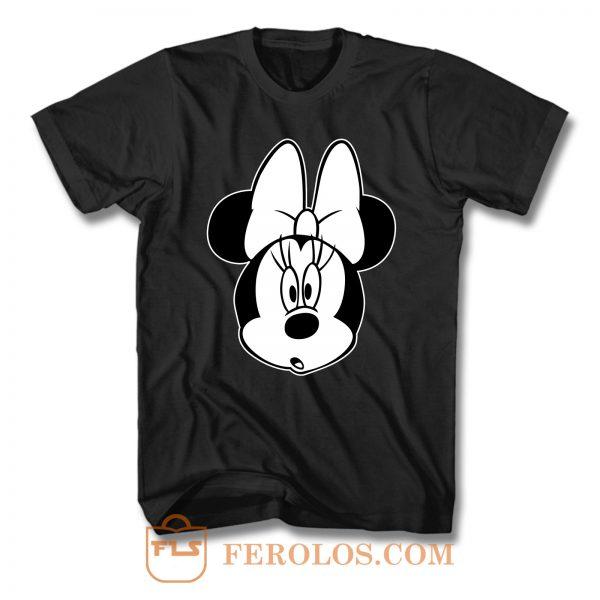 Minnie Mouse Black White T Shirt
