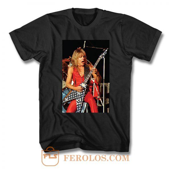 Randy Rhoads Polka Dot Flying V Guitar T Shirt