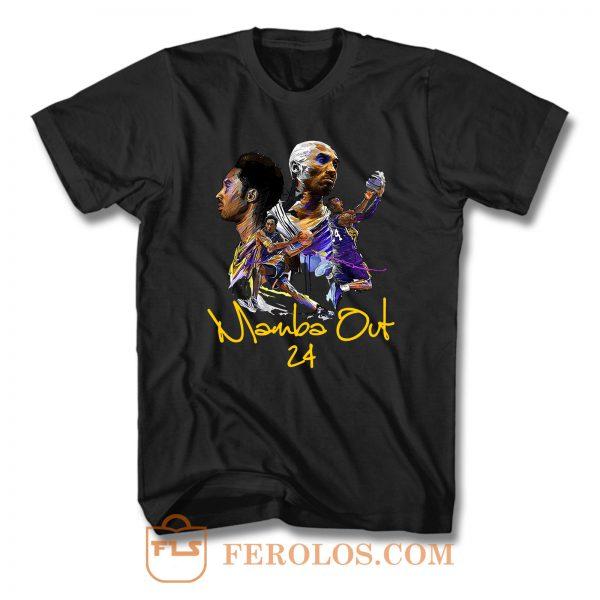 Rip Kobe Bryant 1978 2020 Mamba Out 24 T Shirt