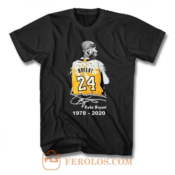 Rip Kobe Bryant 24 Lakers Basketball 1978 2020 T Shirt