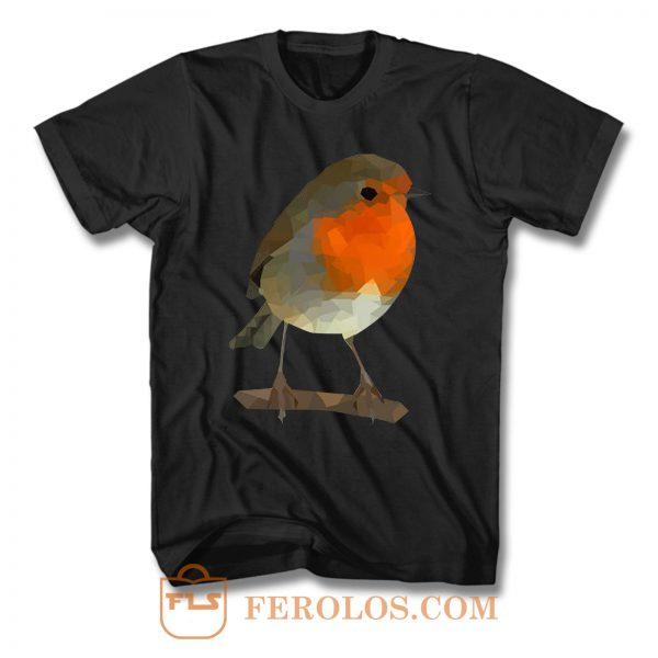 Robin Low Poly T Shirt