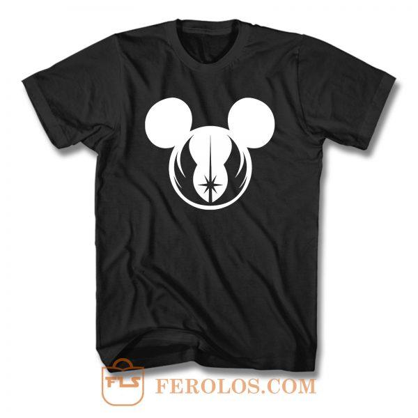 Star Wars Jedi Symbol Logo Mickey Mouse T Shirt