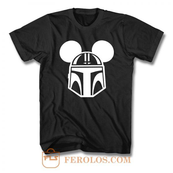 Star Wars Mando Mickey Ears T Shirt