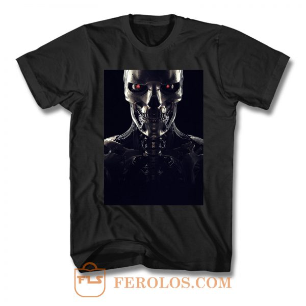 Terminator Dark Fate Rev 9 Face T Shirt