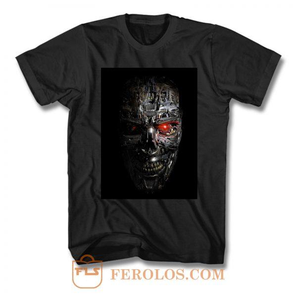 Terminator Endoskeleton Skull Head T Shirt