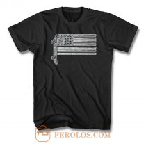 Usa Skateboard Flag T Shirt