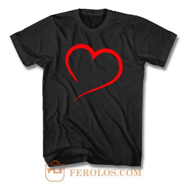 Vintage Heart Love T Shirt