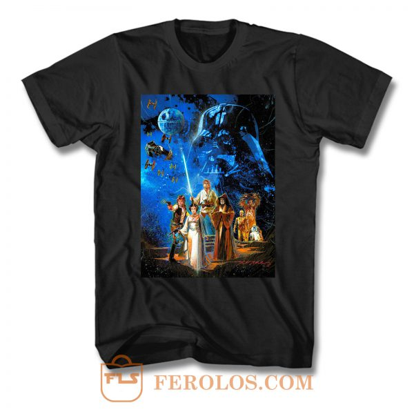 Vintage Star Wars A New Hope Movie T Shirt