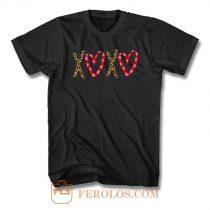 Xoxo Cheetah Valentines T Shirt